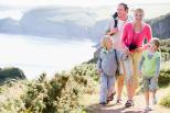 Familienausflug See Berge